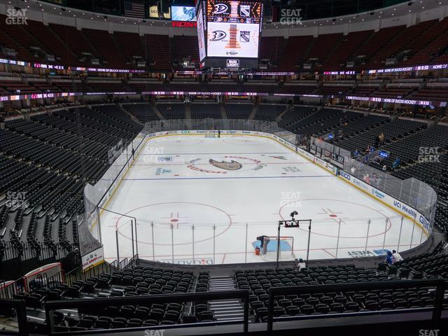 Honda Center Section 314 view