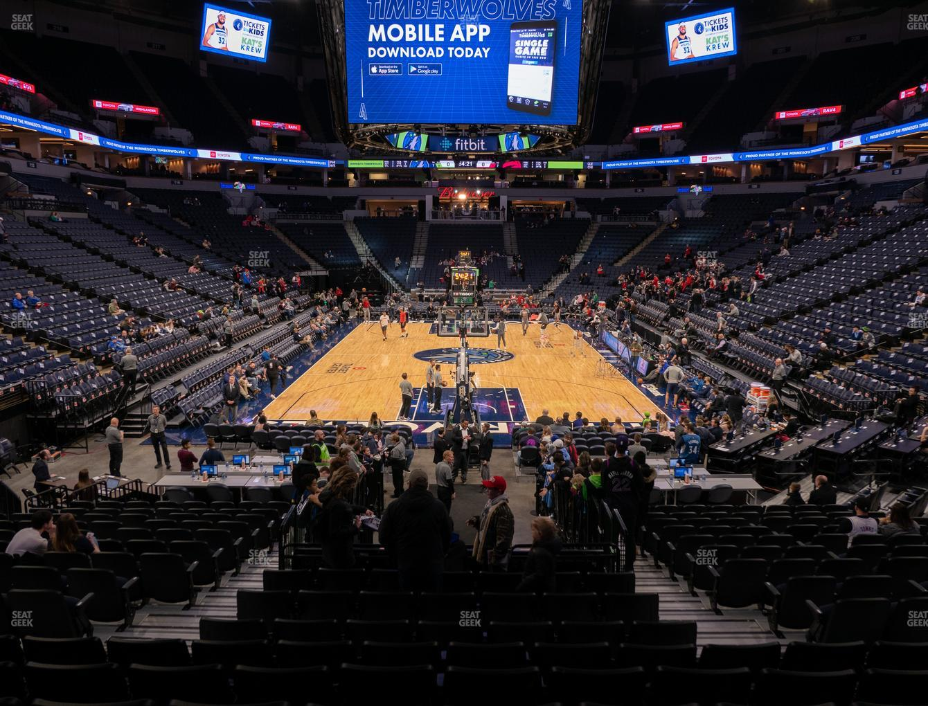 Minnesota Lynx at Target Center Section 101 View