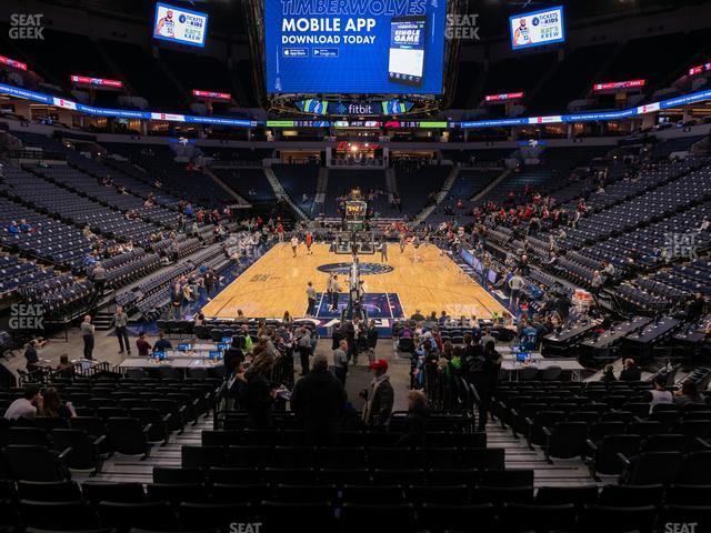 Target Center Section 101 view