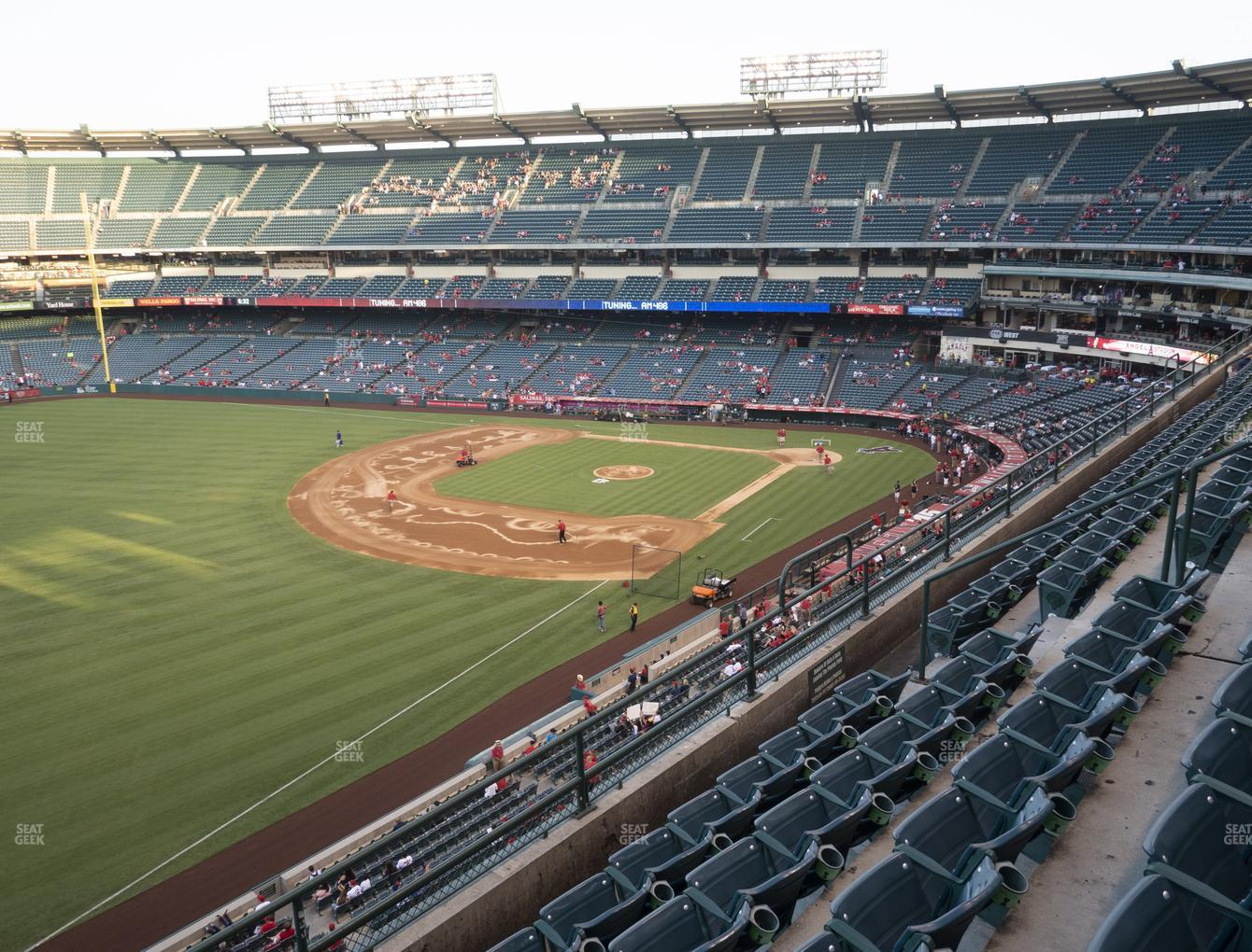 Los Angeles Angels at Angel Stadium of Anaheim Section 407 View