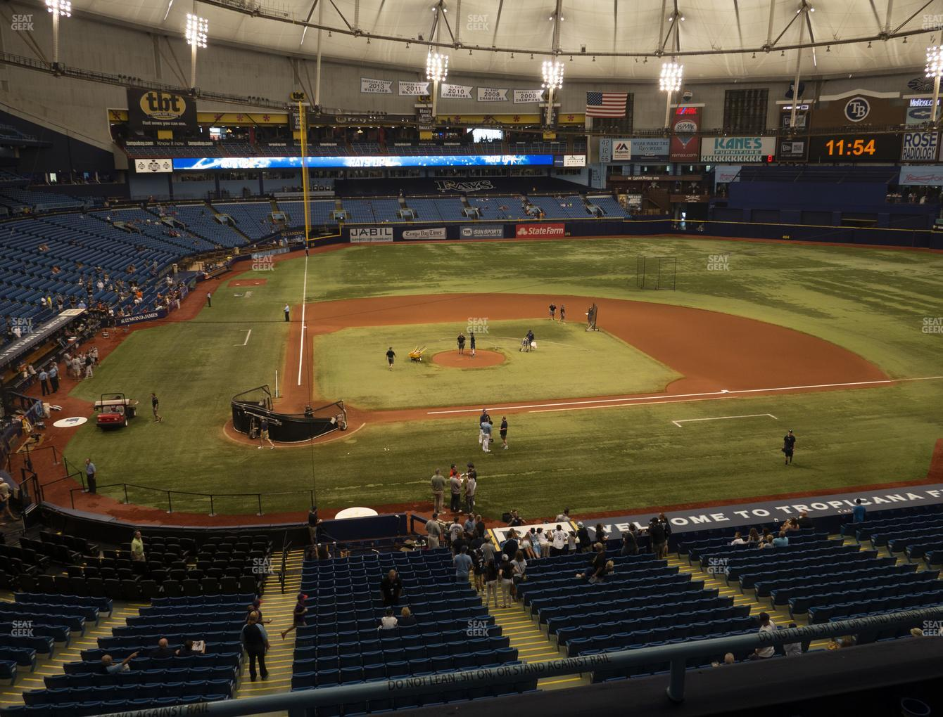 Tampa Bay Rays at Tropicana Field Section 208 View