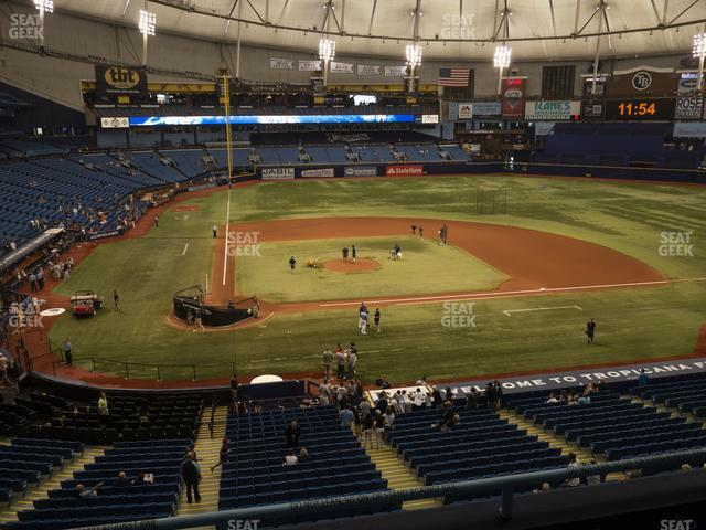 Tropicana Field Section 208 view