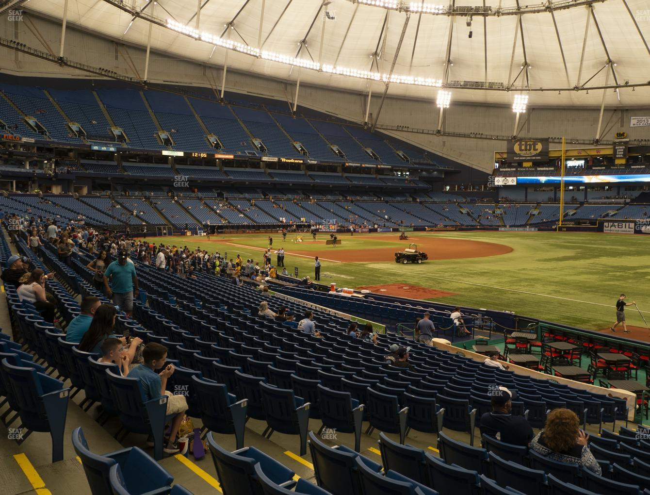 Tampa Bay Rays at Tropicana Field Section 132 View