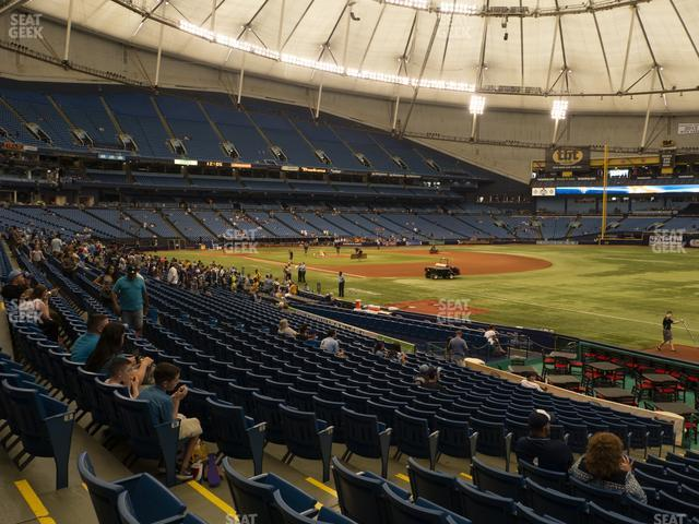Tropicana Field Section 132 view