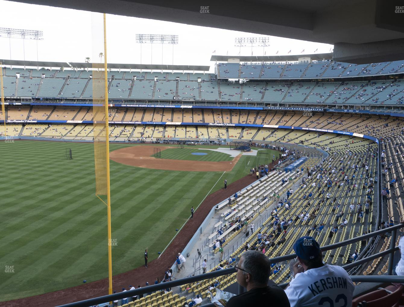 Los Angeles Dodgers at Dodger Stadium Section Club 255 View