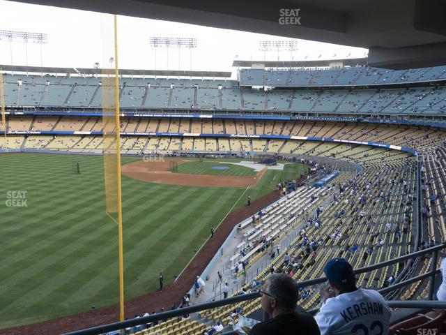 Dodger Stadium Section Club 255 view
