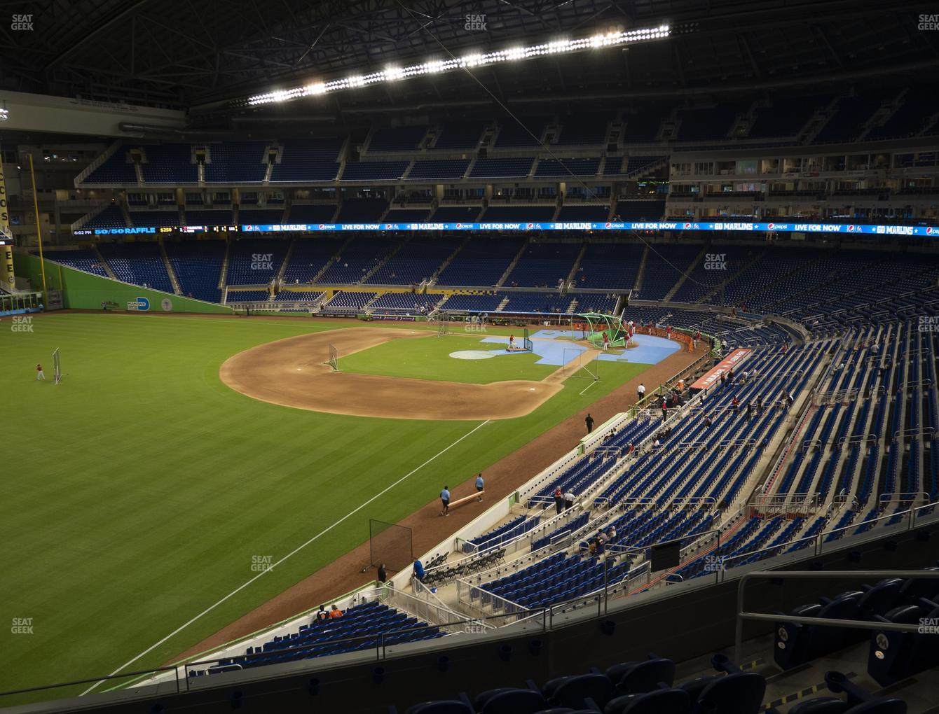 Miami Marlins at Marlins Park Section 228 View