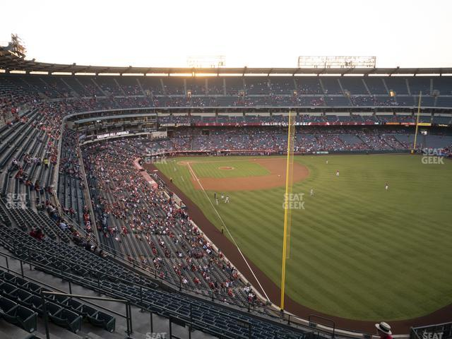Angel Stadium of Anaheim Section 538 view