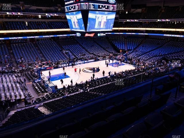 American Airlines Center Section 212 view