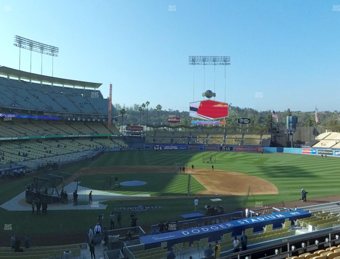 Los Angeles Dodgers at Dodger Stadium Loge Box 126 View
