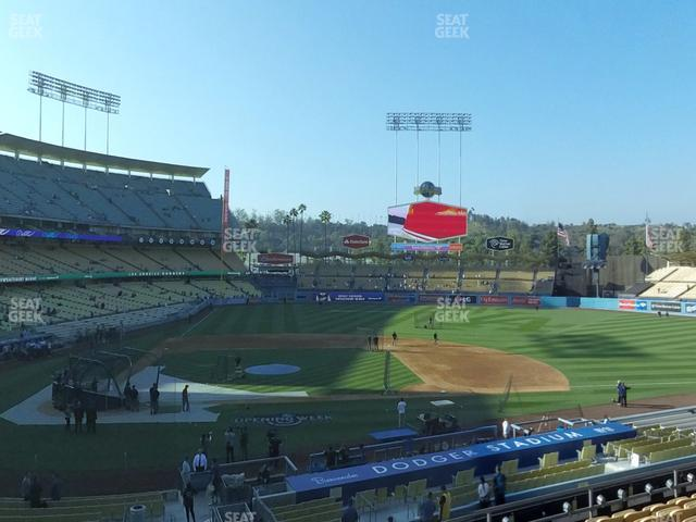 Dodger Stadium Loge Box 126 view