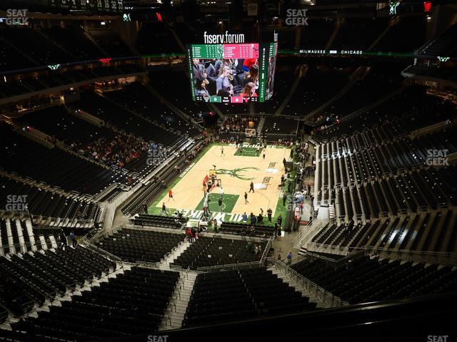 Fiserv Forum Section 228 view