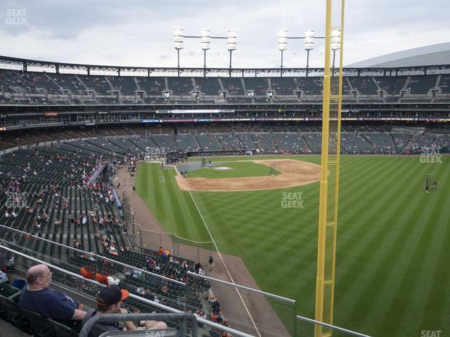 Comerica Park Section 210 view