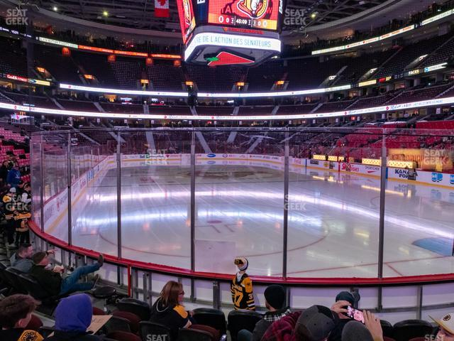 Canadian Tire Centre Section 112 view
