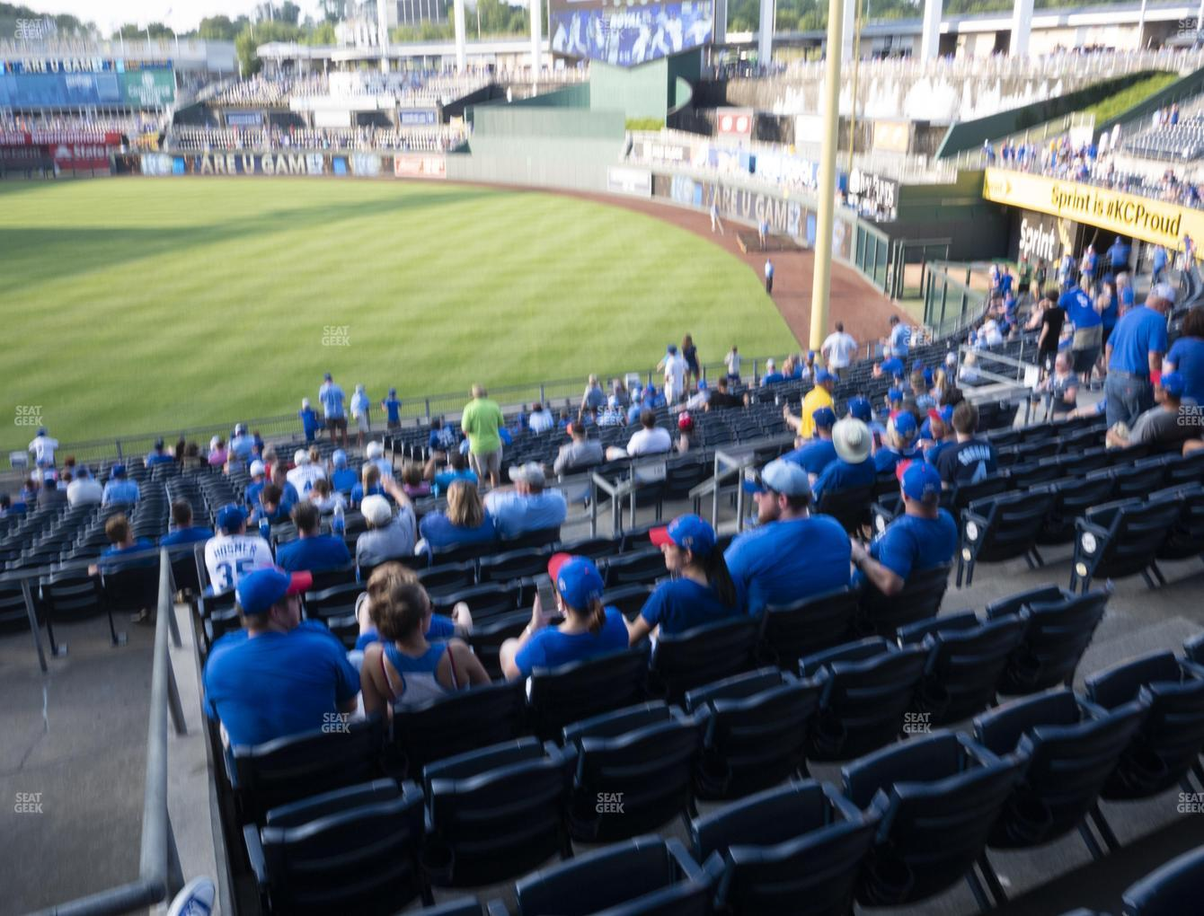 Kansas City Royals at Kauffman Stadium Section 245 View