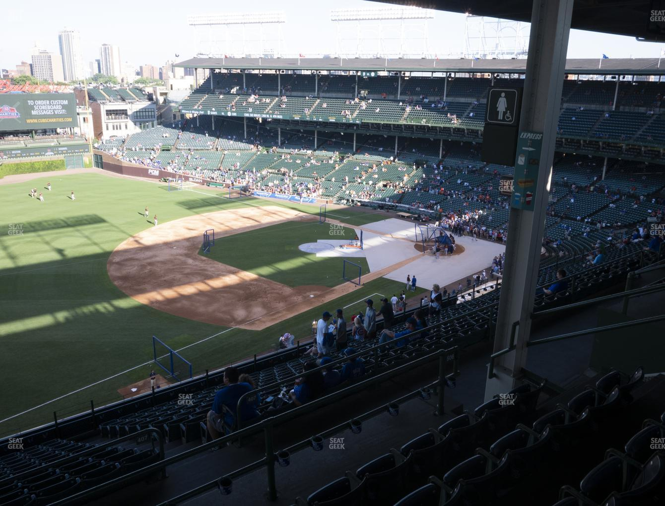 Chicago Cubs at Wrigley Field Section 406 Left View