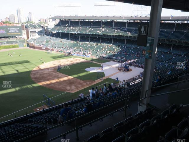Wrigley Field Section 406 Left view