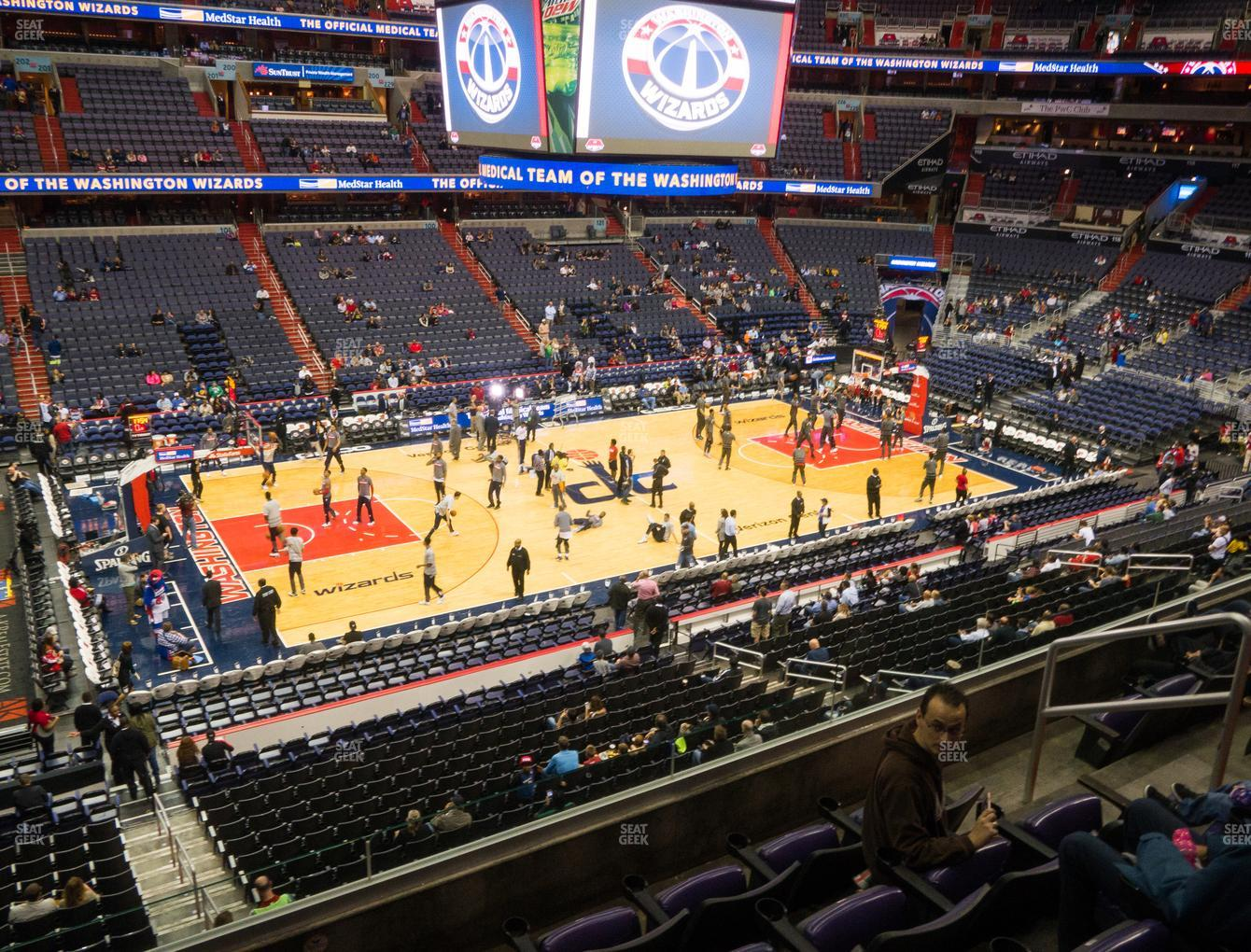Washington Wizards at Capital One Arena Section 213 View