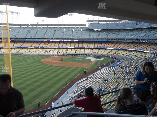 Dodger Stadium Section Club 253 view