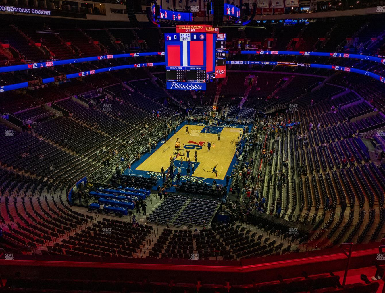 Philadelphia 76ers at Wells Fargo Center Section 220 View