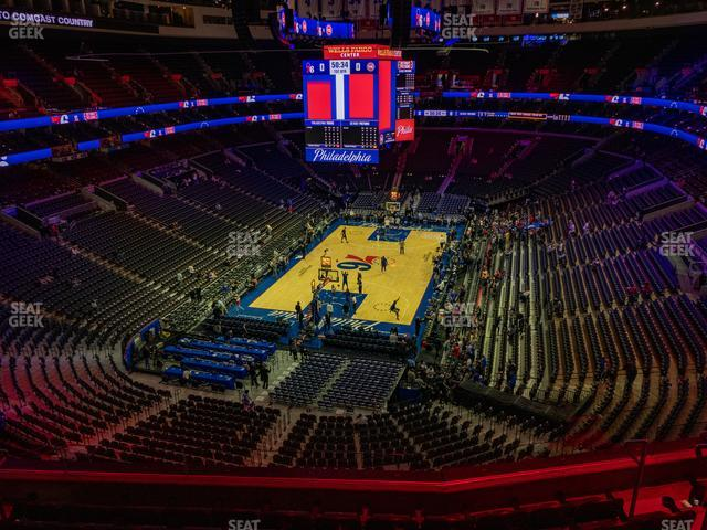Wells Fargo Center Section 220 view
