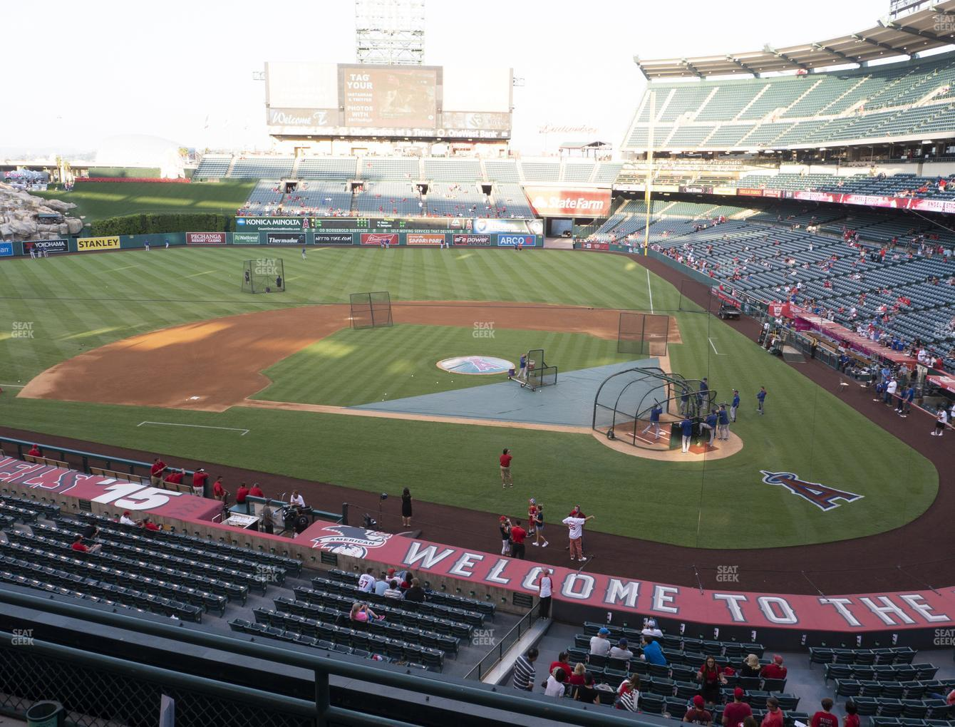 Los Angeles Angels at Angel Stadium of Anaheim Section 321 View