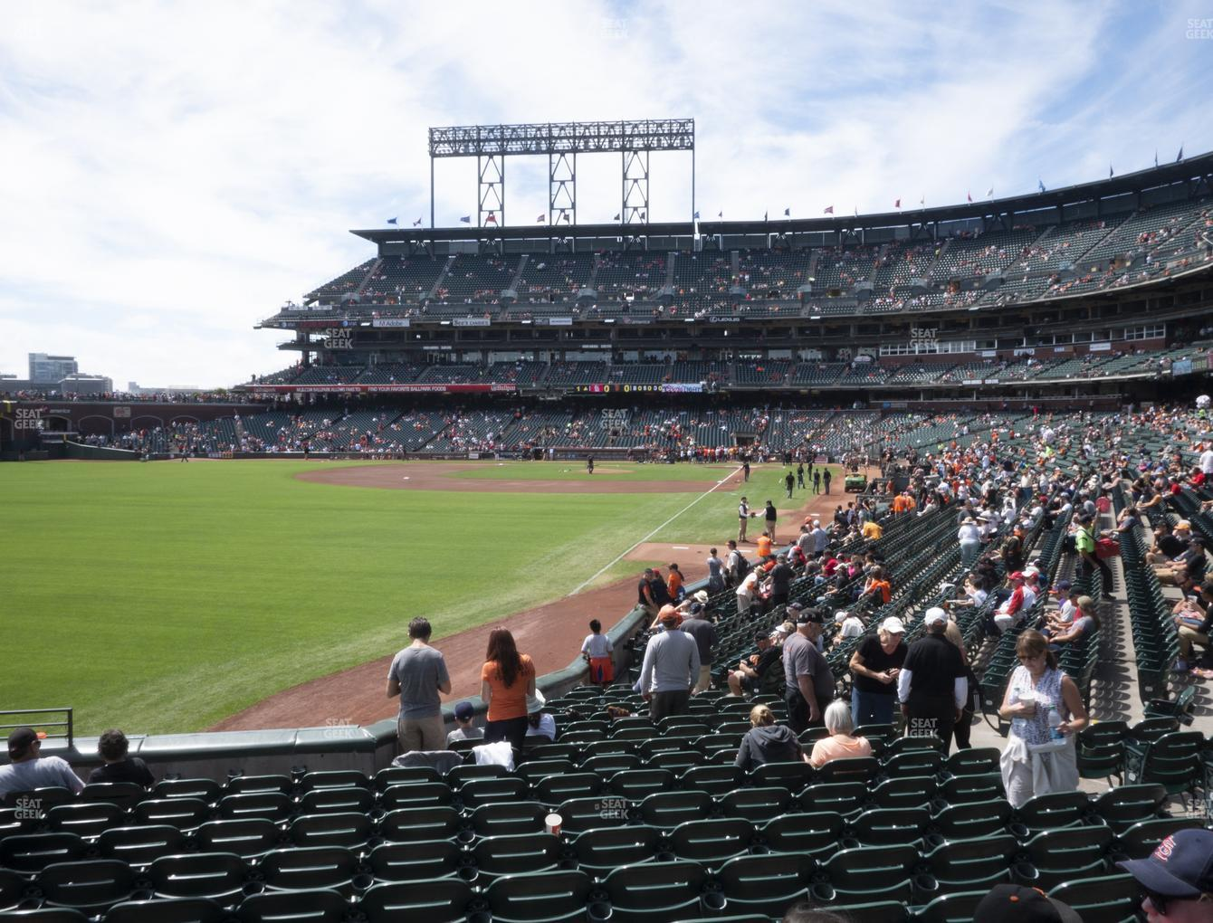 San Francisco Giants at Oracle Park Section 134 View