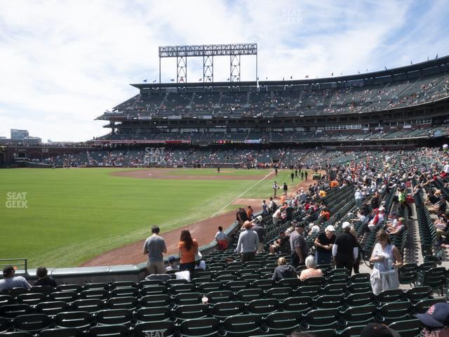Oracle Park Section 134 view