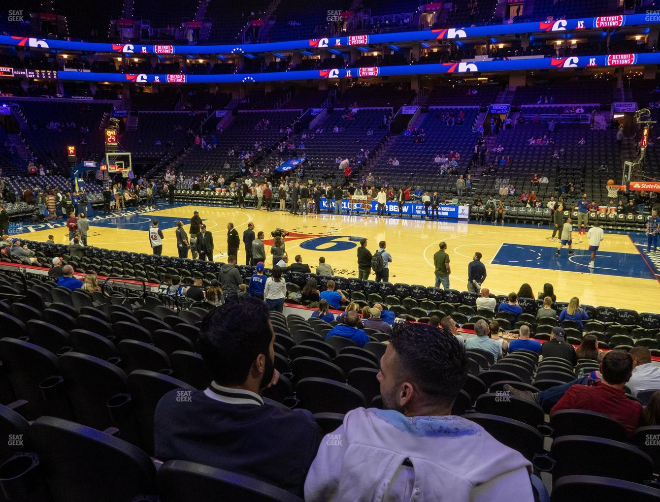 Philadelphia 76ers at Wells Fargo Center Section 114 View