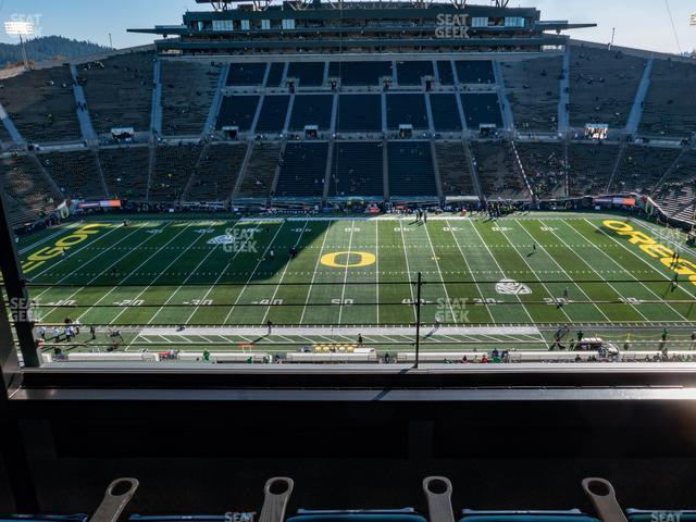 Autzen Stadium Charter Box 4 view