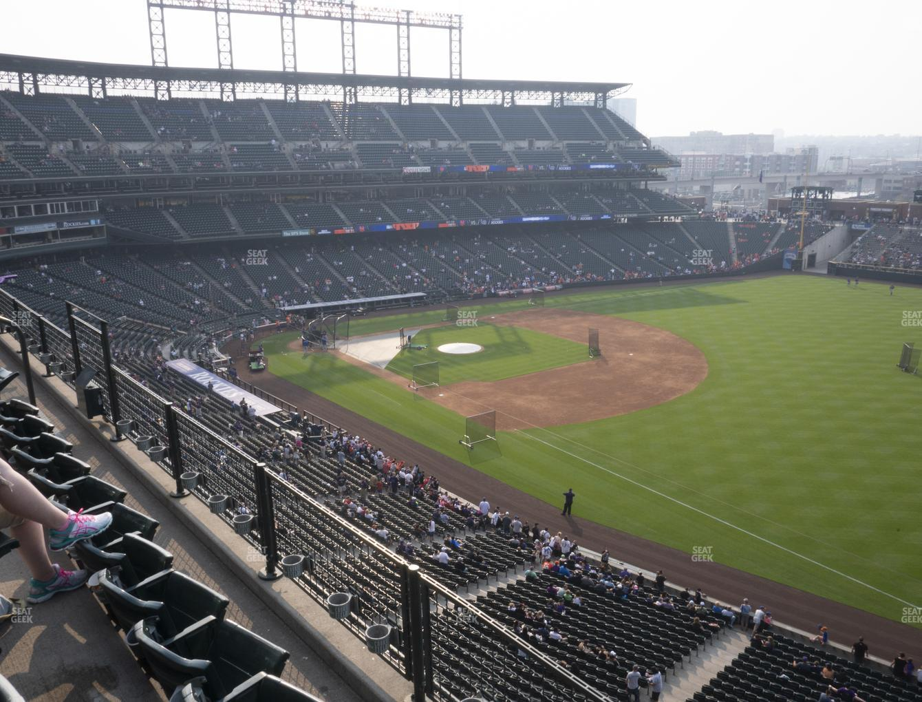 Colorado Rockies at Coors Field Lower 316 View