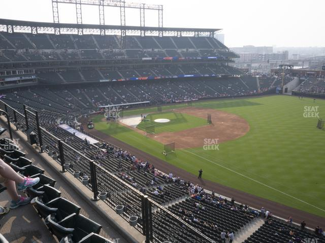 Coors Field Lower 316 view