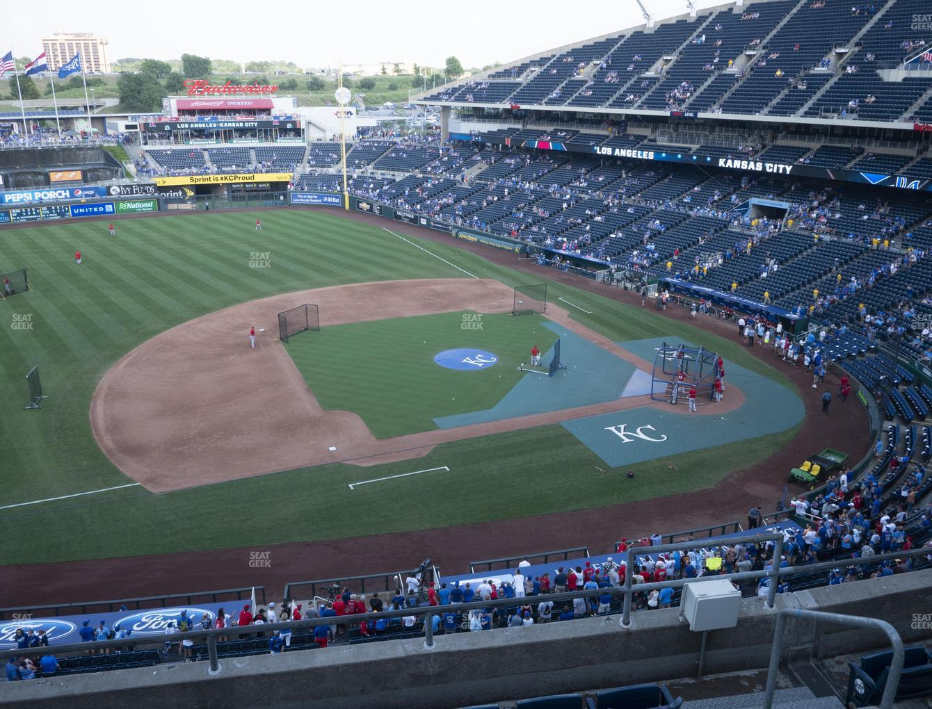 Kansas City Royals at Kauffman Stadium Section 410 View