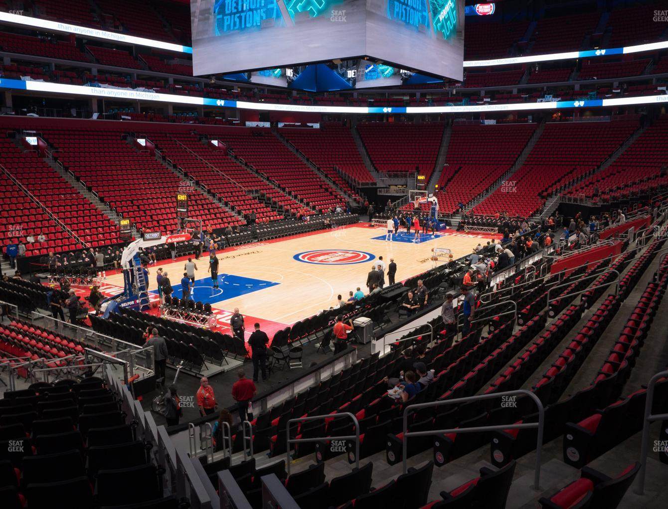 Detroit Pistons at Little Caesars Arena Section 126 View