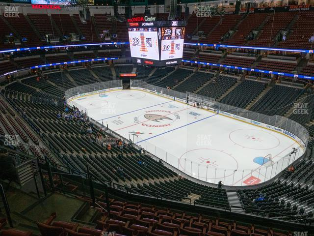 Honda Center Section 406 view