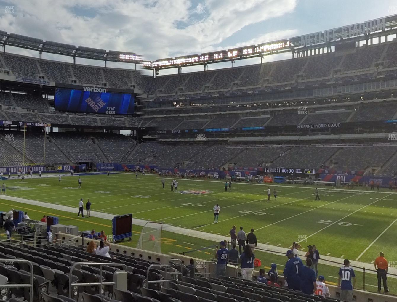 New York Jets at MetLife Stadium Section 110 View