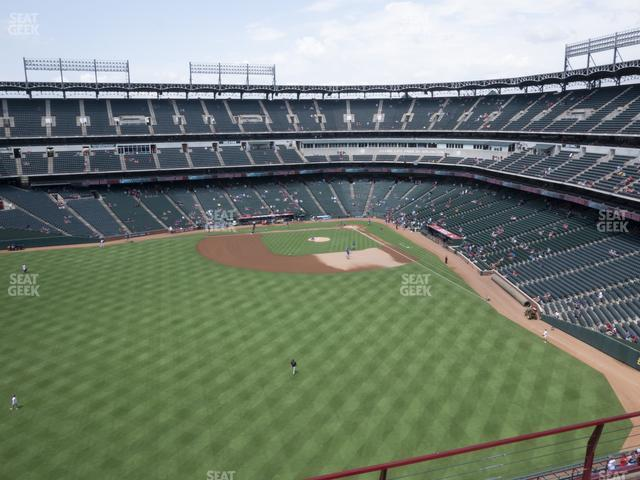 Globe Life Park Section 301 view