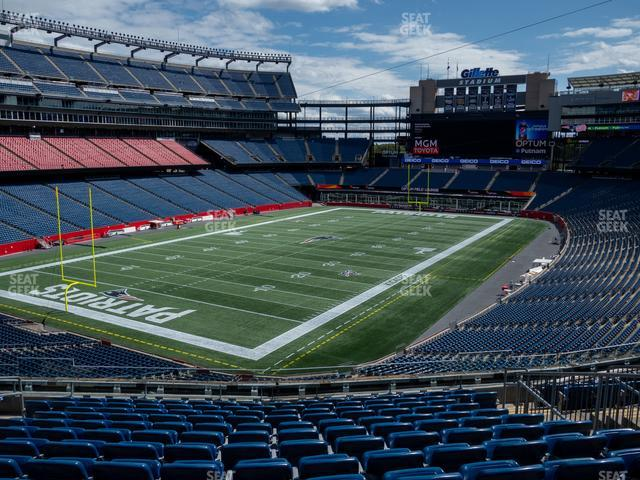 Gillette Stadium Section 239 view