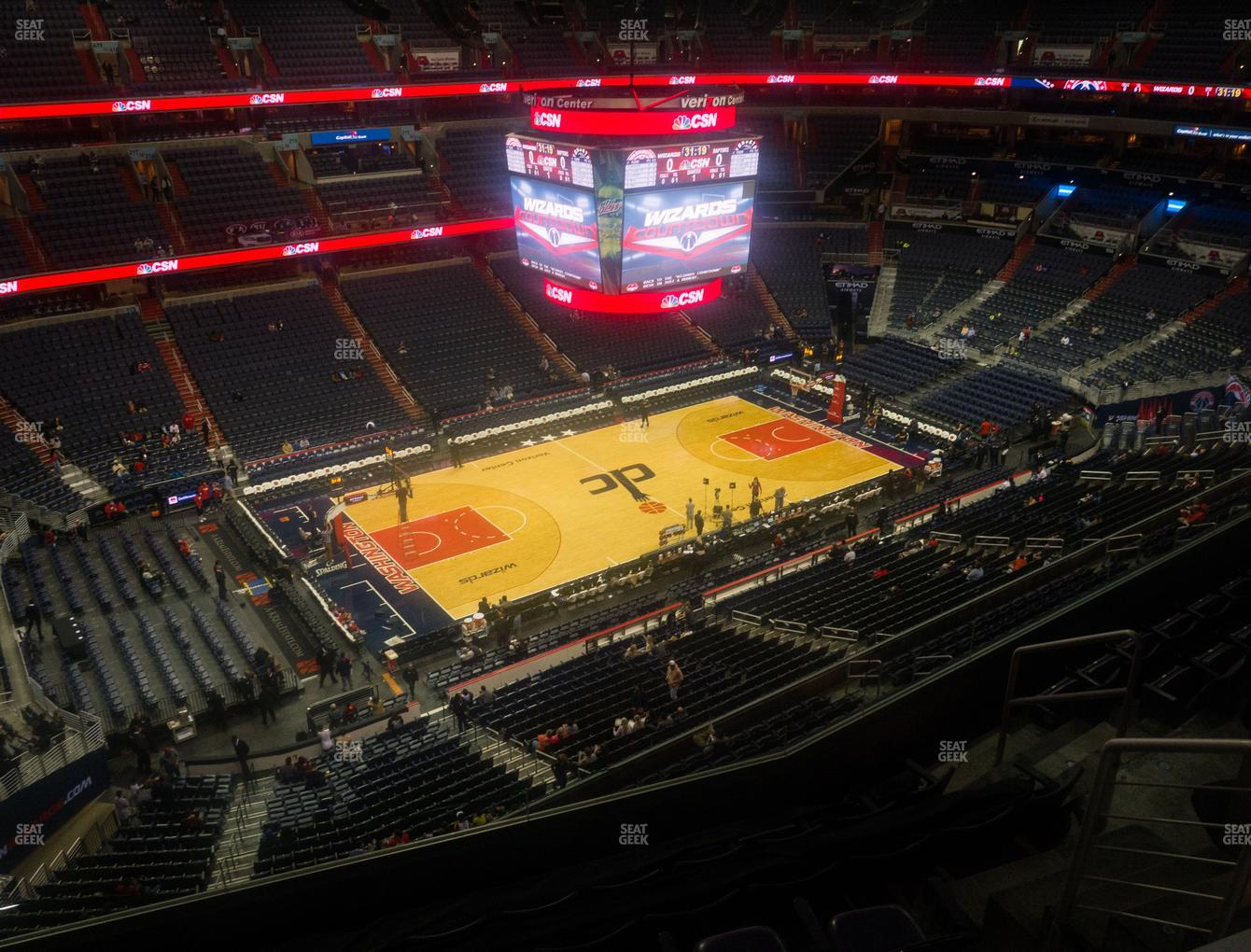 Washington Wizards at Capital One Arena Section 431 View