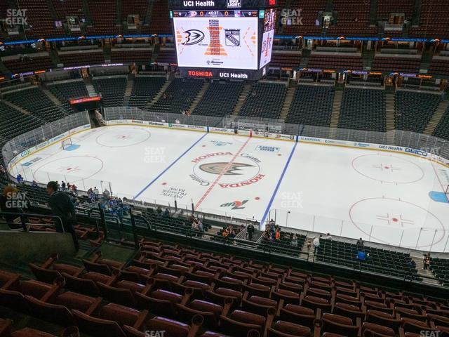 Honda Center Section 410 view