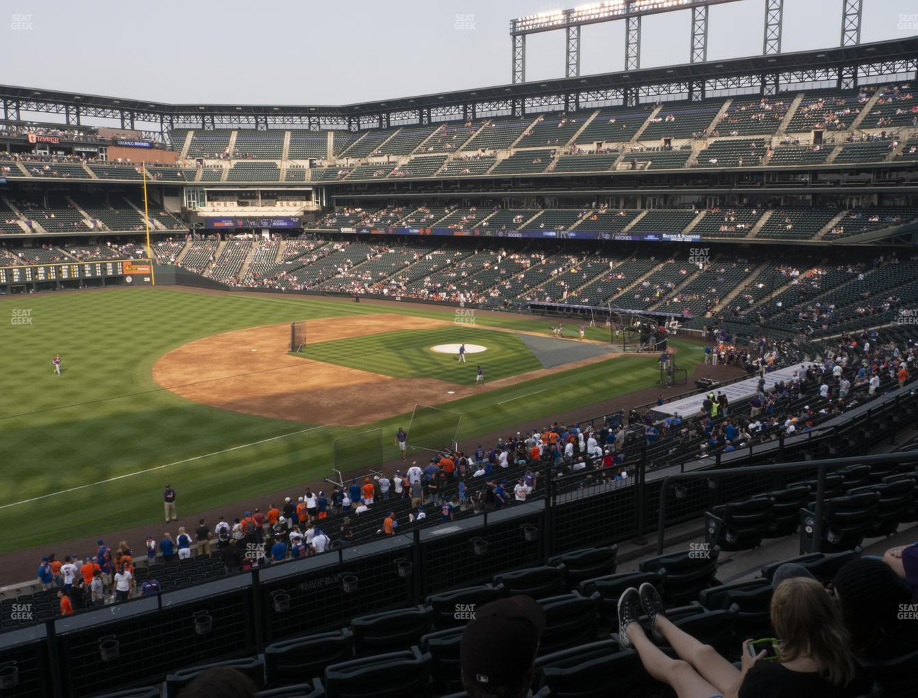 Colorado Rockies at Coors Field Section 244 View