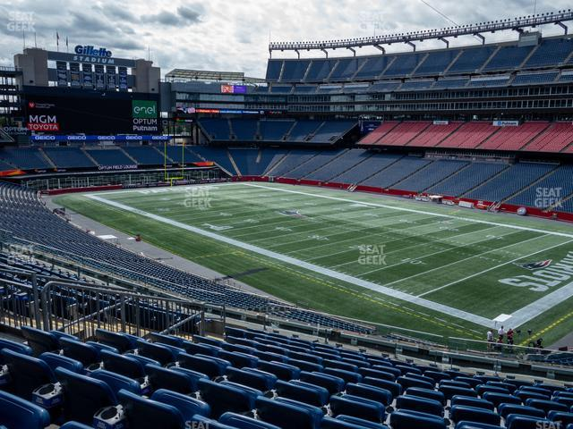 Gillette Stadium Section 204 view