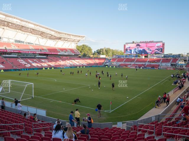 Rio Tinto Stadium Section 25 view