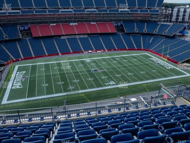 Gillette Stadium Section 312 view