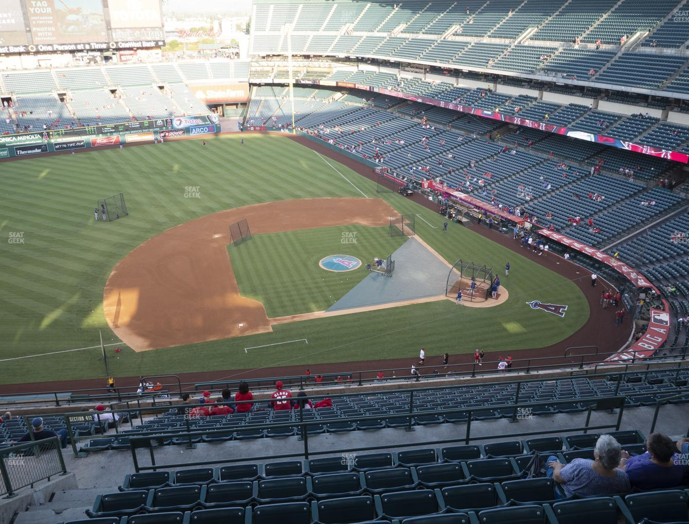 Los Angeles Angels at Angel Stadium of Anaheim Section 513 View
