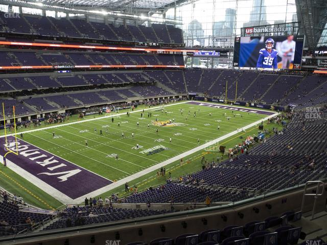 U.S. Bank Stadium Section 218 view