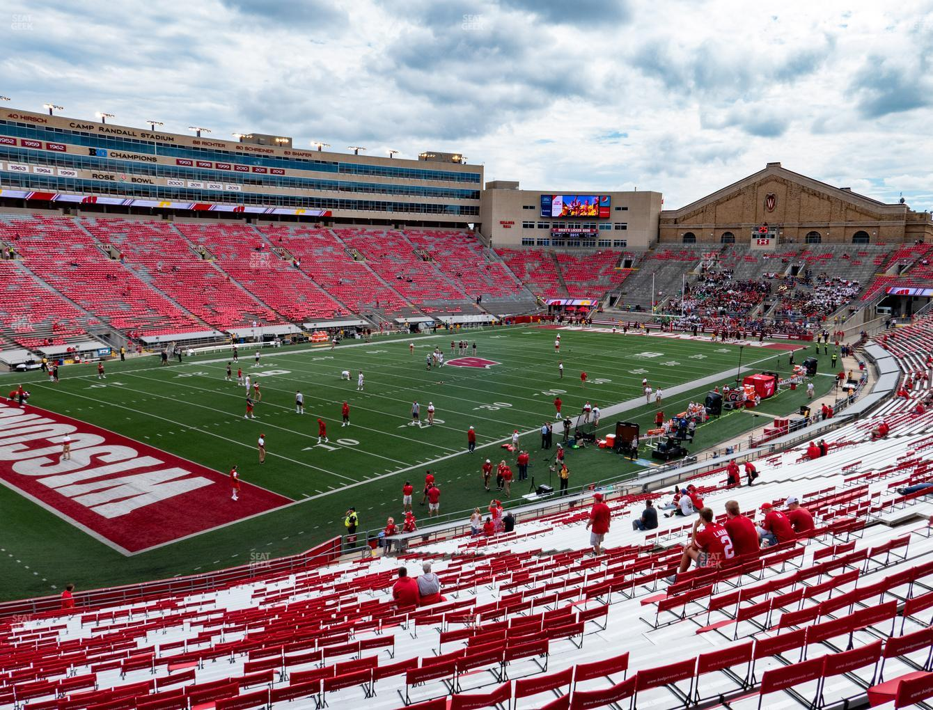 Wisconsin Badgers Football at Camp Randall Stadium Section I View