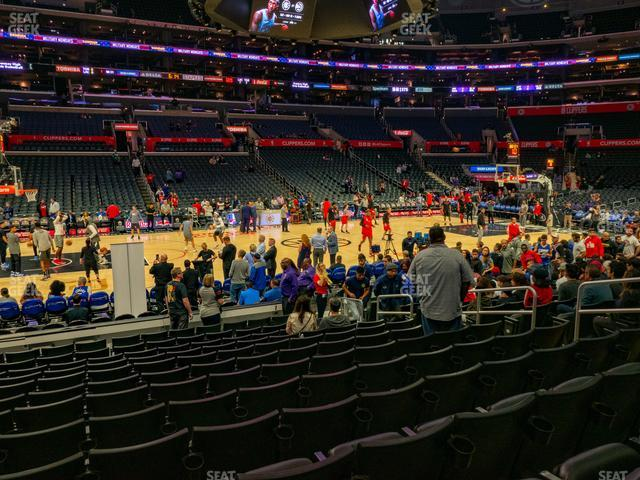 Staples Center Section 112 view