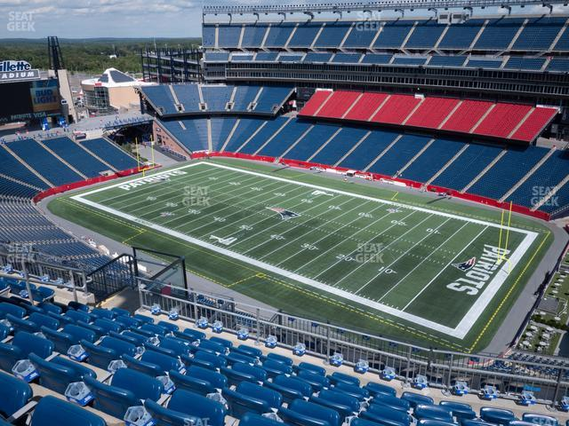 Gillette Stadium Section 326 view