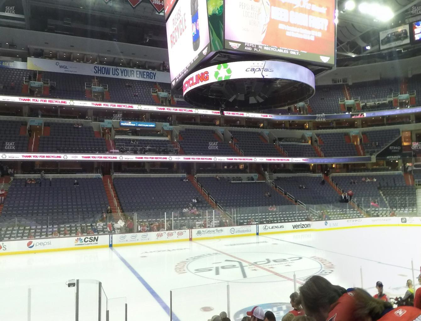 Washington Capitals at Capital One Arena Section 121 View